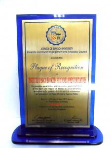 ISEDI Received a Plaque